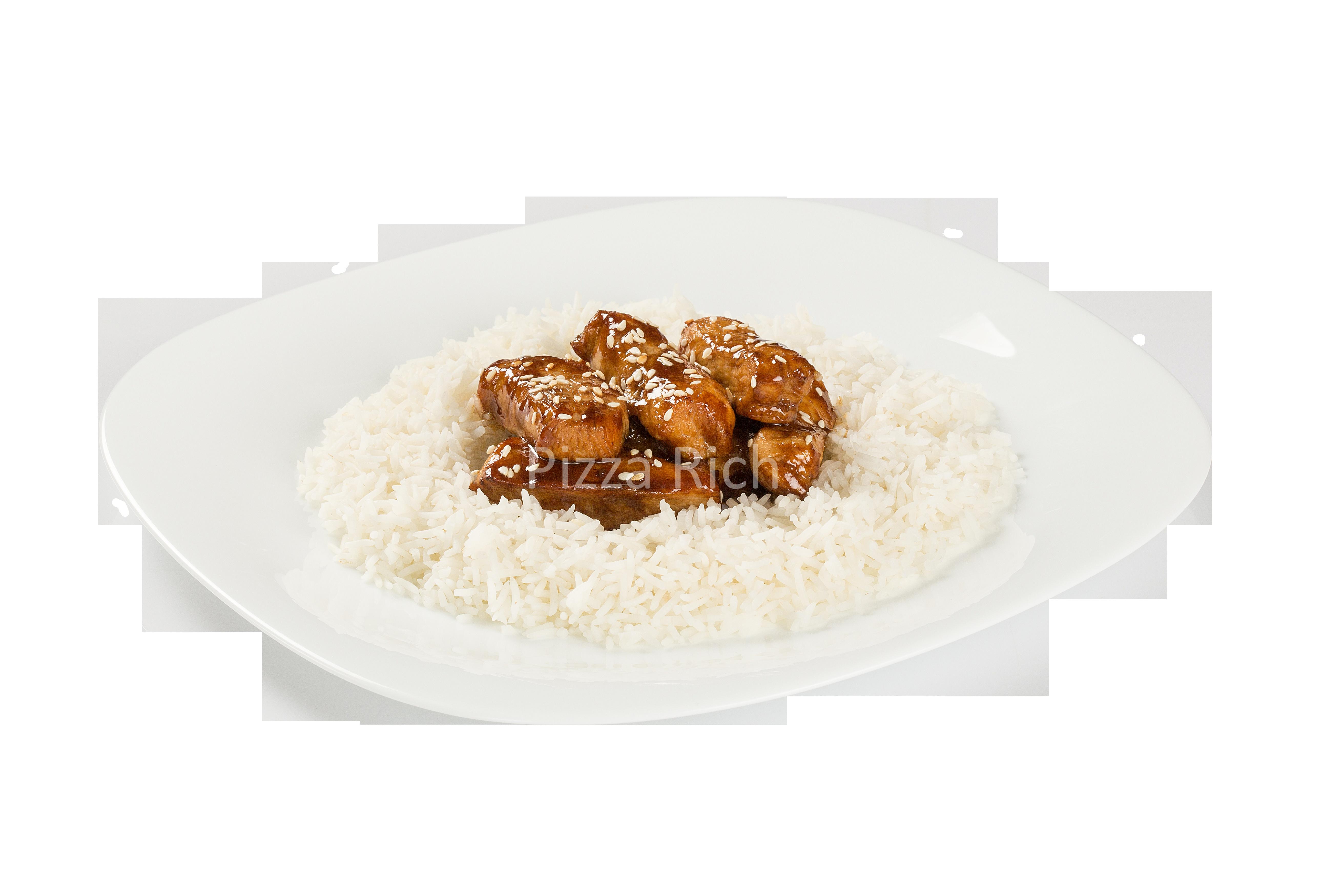 Куриные желудочки с рисом под соусом терияки - Сэголь 25